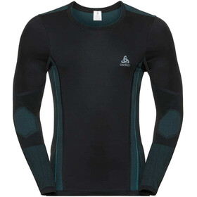 Odlo M's Suw Performance Windshield LS Top Crew black-lake blue